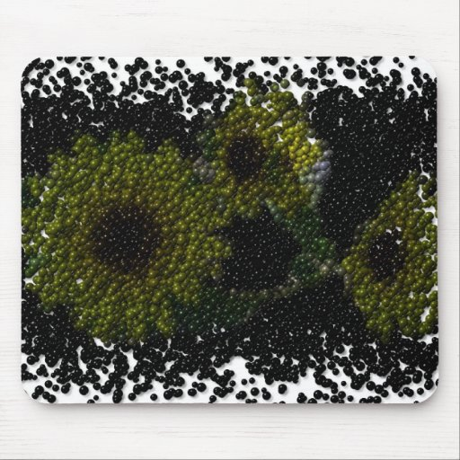 Bubbly Sunflowers Mouse Pad