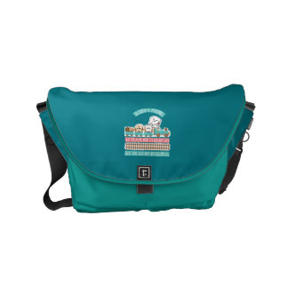 Bubbly travel with friends small messenger bag