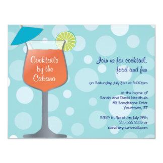 Bubbly Umbrella Drinks Party Invitation