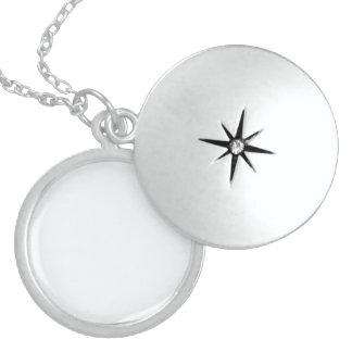 Bubbly White-Champagne White Uptown Girl Designer Locket Necklace