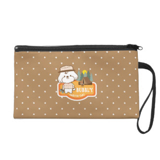 Bubbly's camping time wristlet purse