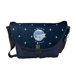 Bubbly's swimming with whale courier bag