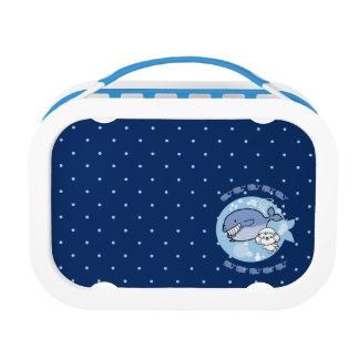 Bubbly's swimming with whale lunch box