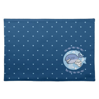 Bubbly's swimming with whale placemat
