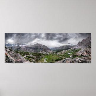 Bubbs Creek Valley - John Muir Trail Poster