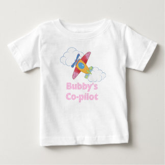 Bubby's Co-pilot (Girl) Baby T-Shirt