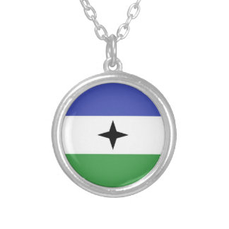 BUBI Bantu People ethnic flag Silver Plated Necklace