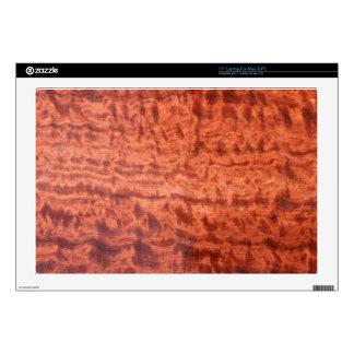 bubinga (faux) Wood Grain Finish Laptop Decal