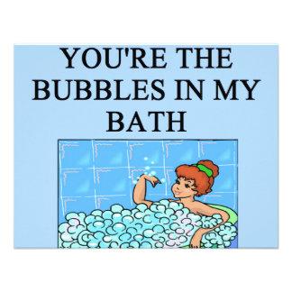 buble bath lovers custom invitation