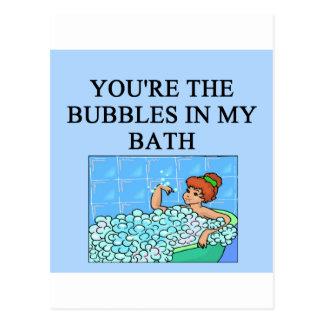 buble bath lovers postcards