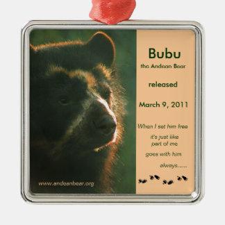 ¡Bubu está libre! Adorno Cuadrado Plateado