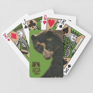 Bubu los naipes andinos del oso baraja cartas de poker