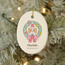 Bubu the Guinea pig, Christmas Gift Ceramic Ornament