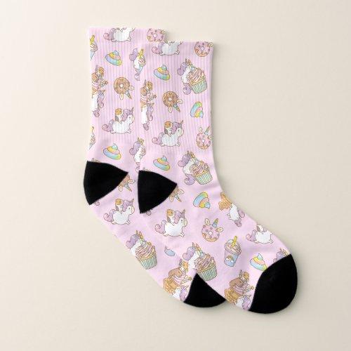 Bubu the Guinea pig Unicorn Party Pattern Socks
