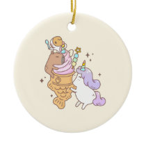 Bubu the Guinea pig, Unicorn Taiyaki Icecream Ceramic Ornament