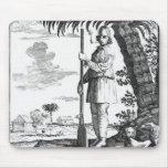 Bucanero en las Antillas, 1686 Tapetes De Raton