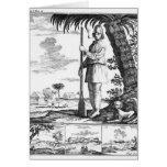 Bucanero en las Antillas, 1686 Tarjeta De Felicitación