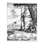 Bucanero en las Antillas, 1686 Tarjeta Postal