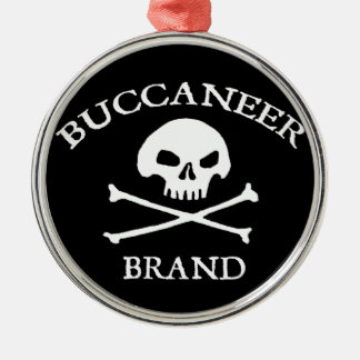 Buccaneer Brand Round Metal Christmas Ornament