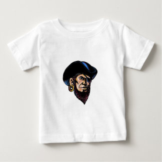 Buccaneer Eye Patch Scratchboard Baby T-Shirt