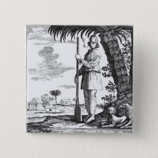 Buccaneer in the West Indies, 1686 Button