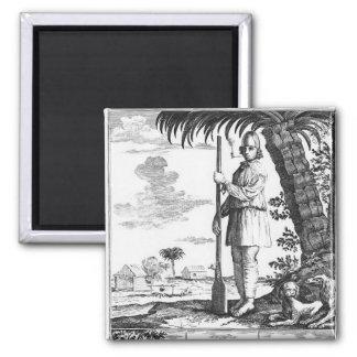 Buccaneer in the West Indies, 1686 Refrigerator Magnets