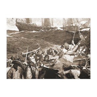 Buccaneers 1910 gallery wrapped canvas