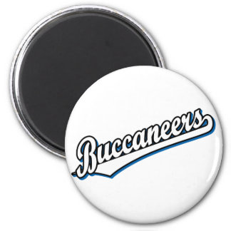 Buccaneers in White and Blue Fridge Magnets