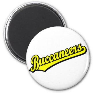 Buccaneers in Yellow Refrigerator Magnets