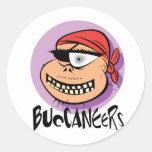 Buccaneers Round Stickers