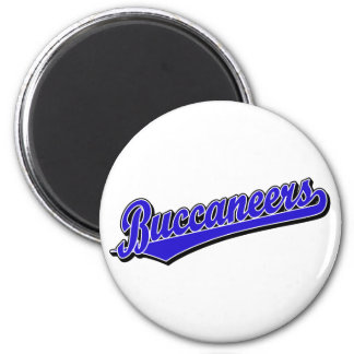 Buccaneers script logo in Blue 2 Inch Round Magnet