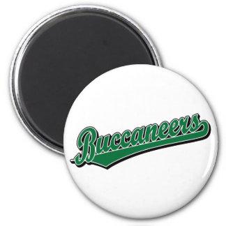 Buccaneers script logo in Green Refrigerator Magnets