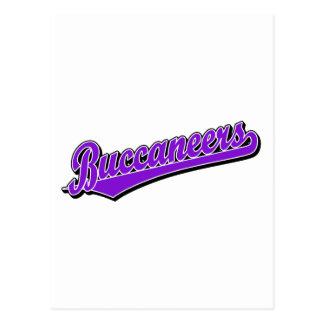 Buccaneers script logo in Red Postcard