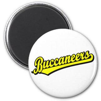 Buccaneers script logo in Yellow 2 Inch Round Magnet
