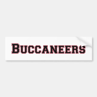 Buccaneers square logo in black and red car bumper sticker