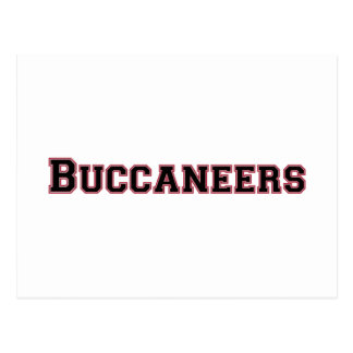 Buccaneers square logo in black and red postcard