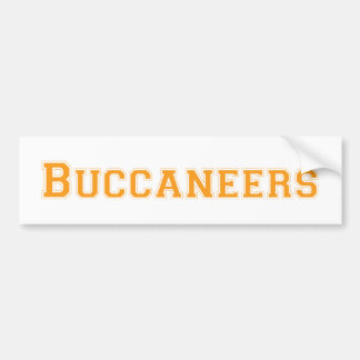 Buccaneers square logo in orange bumper sticker