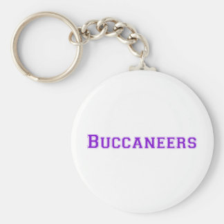 Buccaneers square logo in purple keychain