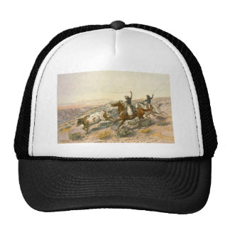 Buccaroos by Charles Marion Russell Trucker Hats