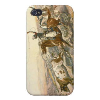 Buccaroos by Charles Marion Russell Cover For iPhone 4