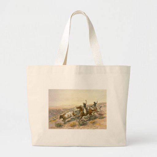 Buccaroos by Charles Marion Russell Jumbo Tote Bag