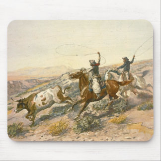Buccaroos by Charles Marion Russell Mousepad
