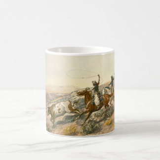 Buccaroos by Charles Marion Russell Classic White Coffee Mug