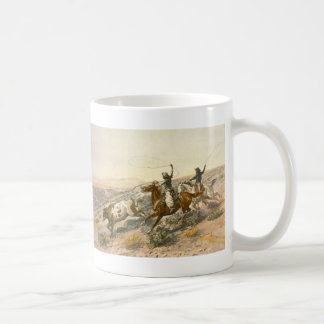 Buccaroos by Charles Marion Russell Mugs