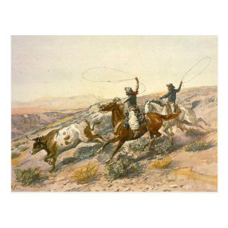 Buccaroos by Charles Marion Russell Postcard