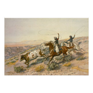Buccaroos by Charles Marion Russell Poster