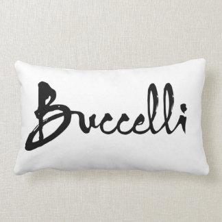 Buccelli black throw pillow