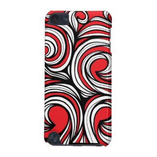 Bucciero Abstract Expression Red White Black iPod Touch 5G Cover