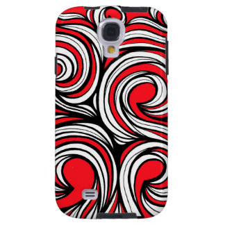 Bucciero Abstract Expression Red White Black Galaxy S4 Case