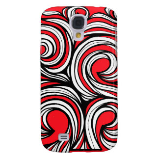 Bucciero Abstract Expression Red White Black Galaxy S4 Covers